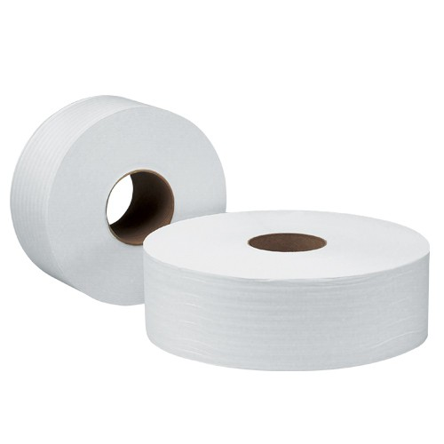 Scott JRT Jumbo Roll Tissue Paper is available in 1-ply or 2-ply.