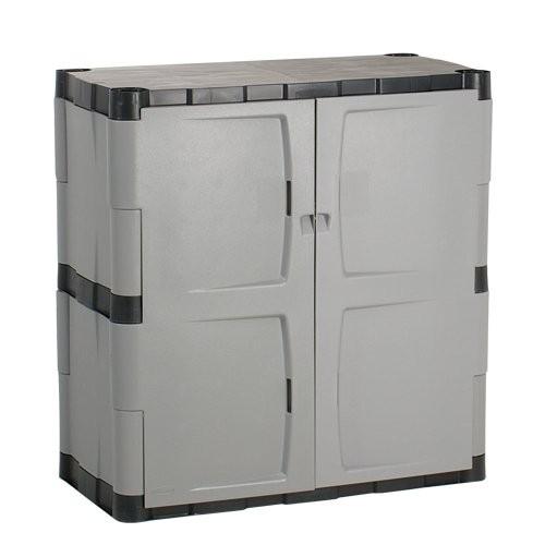 Base cabinet has 2 shelves.