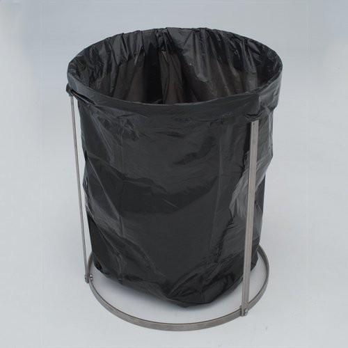 Stainless Steel Knockdown Trash Liner Holder