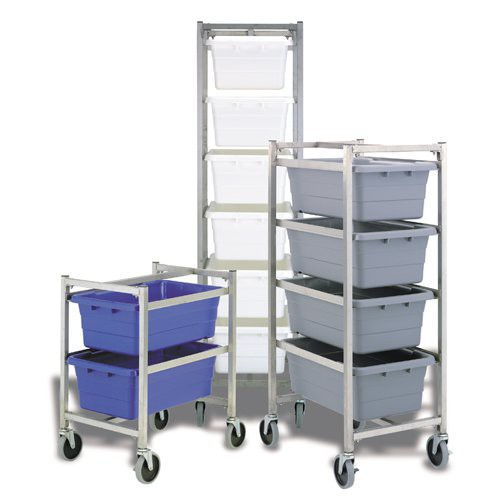 Stainless steel tote dollies make transporting product easier than ever! Choose from three sizes.