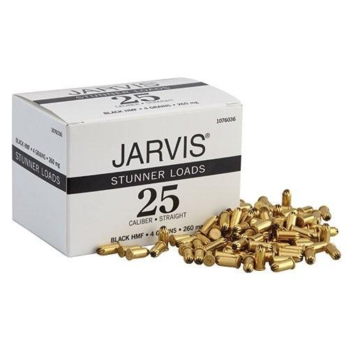 Jarvis .25 Caliber, Straight Design Power Cartridges
