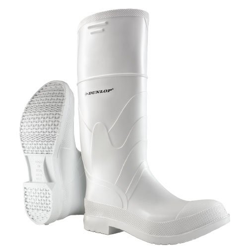 Dunlop White, Steel Toe PVC Boots