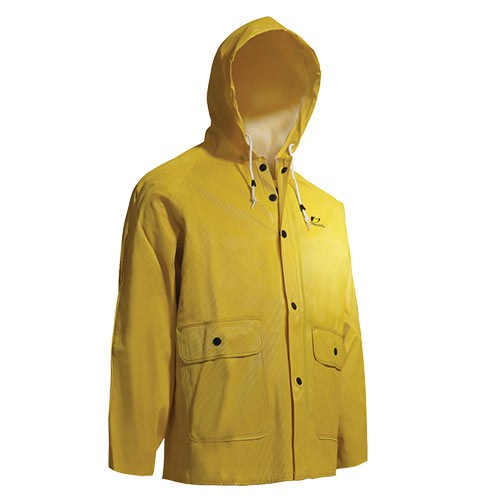 OnGuard Webtex Yellow Jacket with Attached Hood