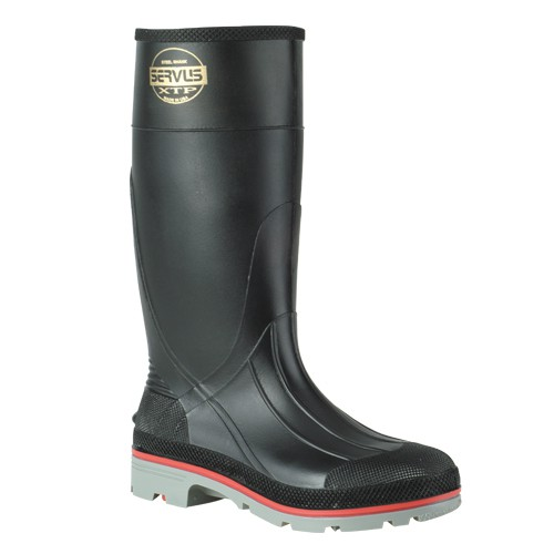 The seamless, 3-stage, PVC injection molded construction is 100% waterproof to keep feet comfortable and dry.