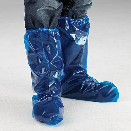 4-Mil., Blue Boot Cover
