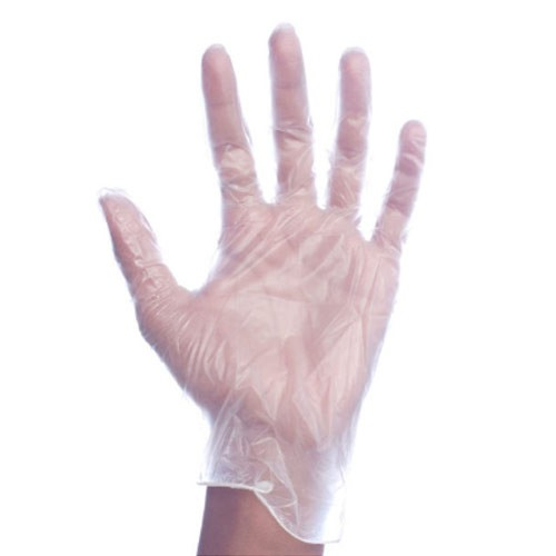 Small, Clear Powdered Vinyl Gloves
