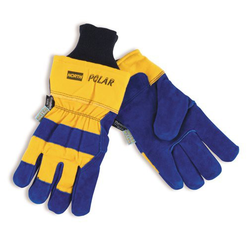North Polar Insulated Leather Palm Freezer Gloves