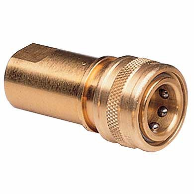 Straight Quick Disconnect Adapter w/Auto Shut-off 3/8'' FPT