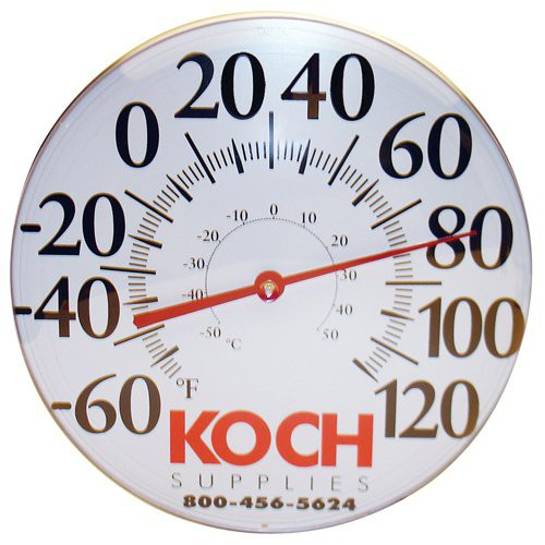 12'' Diameter Wall Thermometer