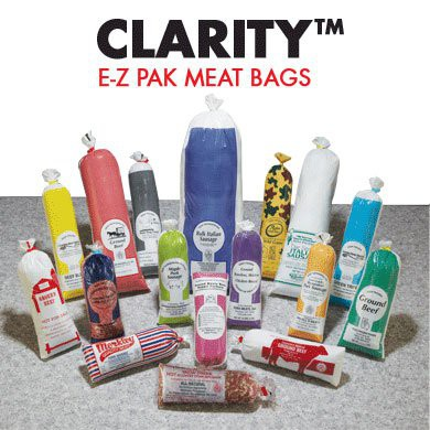 CLARITY Custom-Print Poly Meat Bags