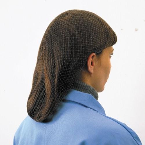 Lightweight nylon hairnet is 100% latex free.