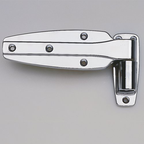 Polished Chrome Reversible Cam-Rise Door Hinge