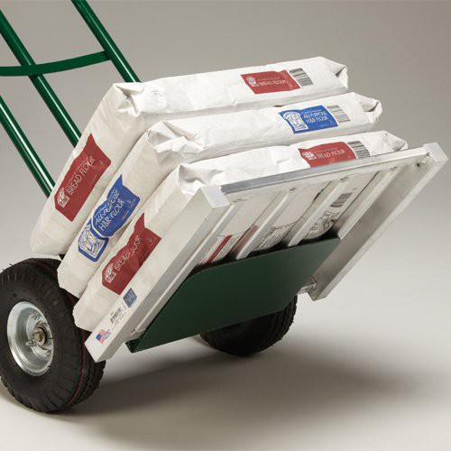 Aluminum Hand Truck Pallet makes moving small cases and bags of product easy.