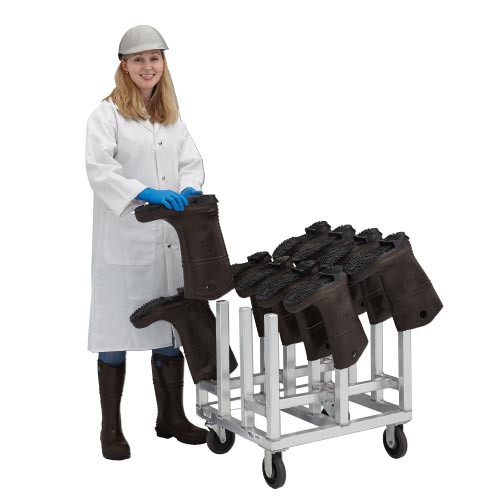New Age Industrial 6-Pair Aluminum Mobile Boot Drying Rack