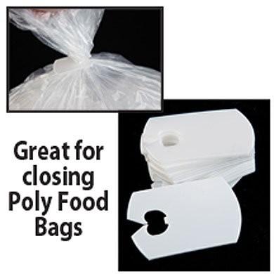 Plastic White Bag Clips