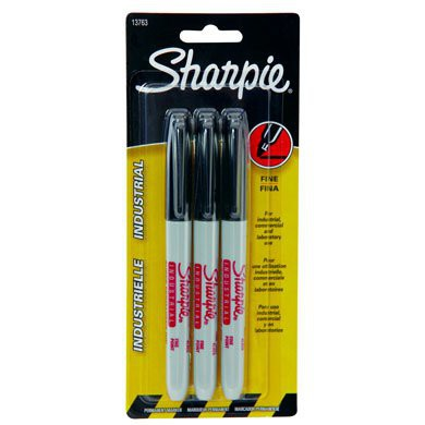 3-Pack Black Sharpie Markers