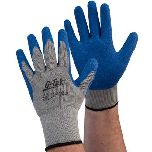 G-TEK Cotton/Polyester Glove with Latex Coated Crinkle Grip