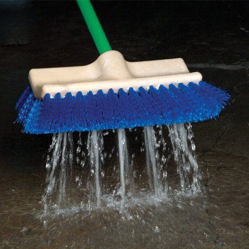 Flow-Thru Dual-Surface Scrub Brush