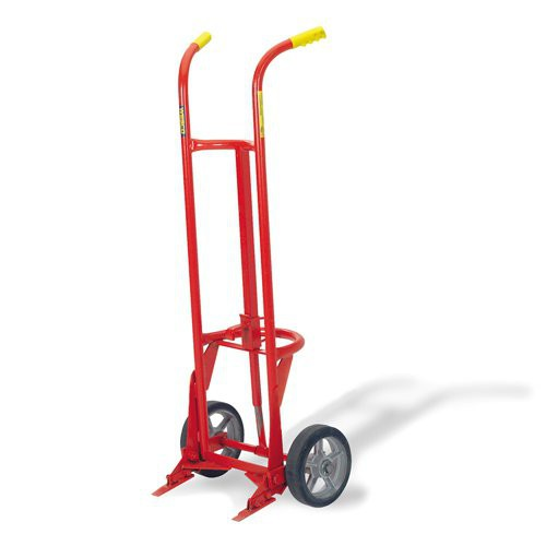 """Hand Truck featues self-standing, heavy-duty, 1"""" structural pipe frame."""