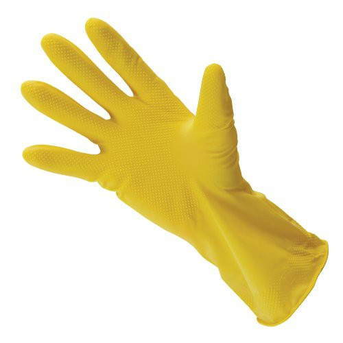 17-Mil. Latex, Lightly Flocked Rubber Gloves