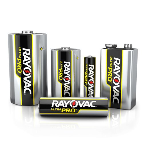 Rayovac Ultra Pro Alkaline Batteries are long lasting to power industrial and commercial devices.