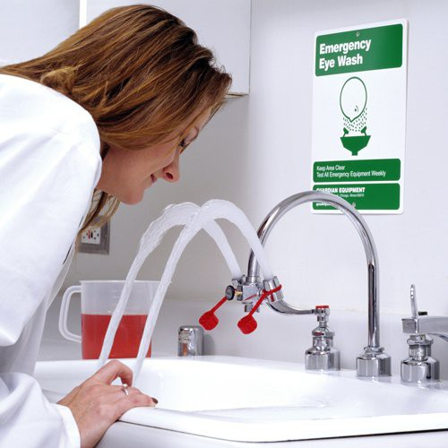 Faucet-Mounted Eye Wash