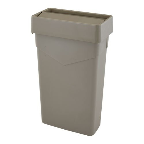 Beige, Carlisle TrimLine Waste Container with Swing Lid