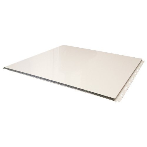 Panels slide together with tongue and groove design leaving no exposed fasteners to rust or promote mold or bacteria growth.