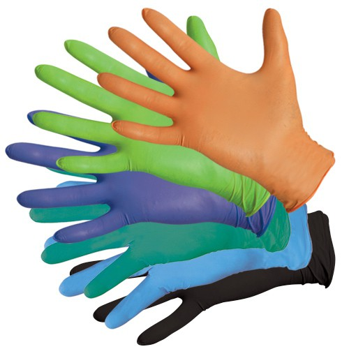 650 Premium Series Nitrile Gloves are available in 6 colors!