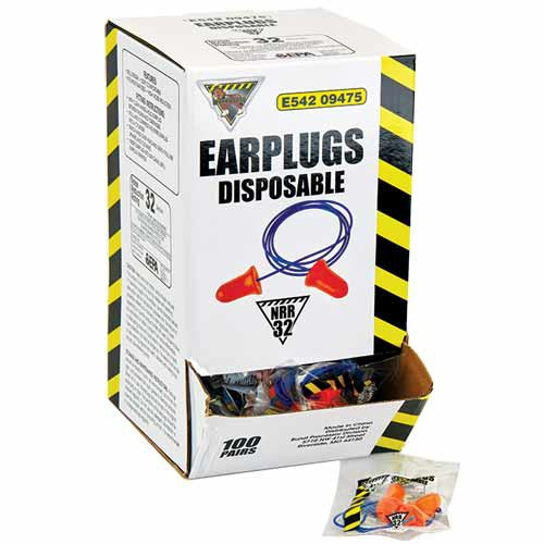 Workhorse Bell-Shaped Disposable Earplugs