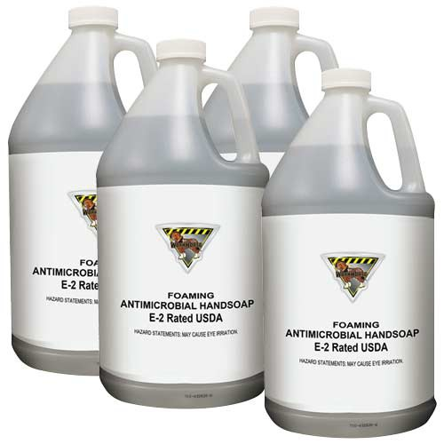 Workhorse Case of 4 E2 Foaming Antimicrobial Handsoap - Gallon Bottles