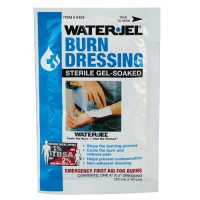 Waterjel Burn Dressing provides emergency first aid for burns.