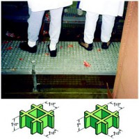 Fiberglass, Square Grid Floor Grating