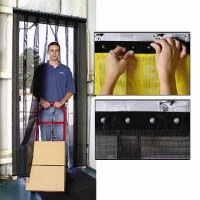 AirFlex Mesh Barrier Strip Curtain Door System