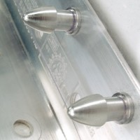 Uniquely shaped locking system allows strips to be easily snapped on and off without using tools.