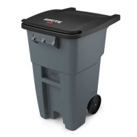 Rubbermaid Roll-Out Containers/Trash Cart (50 Gallon, Gray)