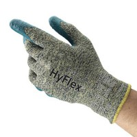 HyFlex 11-501 Cut-Resistant Gray Knit with Blue Nitrile Coating