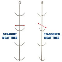 Staggered Stainless Steel Fresh Meat Trees are available straight or staggered.