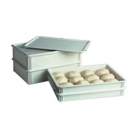 Dough boxes help prevent crusting and reduces frequency of dough making.