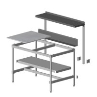 Knockdown Table with Stainless Top