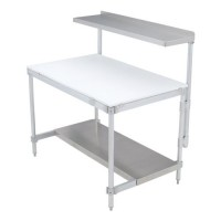 Aluminum Knockdown Tables with Poly Tops