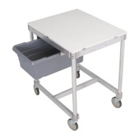 24'' x 30'' Aluminum Knockdown Table with Poly Top