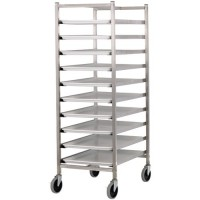 Stainless Steel Knock-Down 10-Platter Dolly