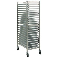 Stainless Steel Knock-Down 20-Platter Dolly