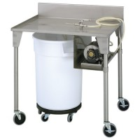 Stainless Steel Roll-Over Pumping Table - Drum, drum dolly, curing pump and table all sold separately.