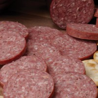A true 'Old World' recipe, topped off with whole peppercorns for the visual appeal expected in a robust salami.