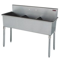 Three-Compartment Skullery Stainless Steel Sink