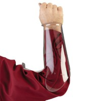 13'' hog header arm guard is made from high-impact plastic.