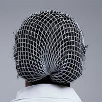 Open weave rayon hairnet is comfortable to wear.