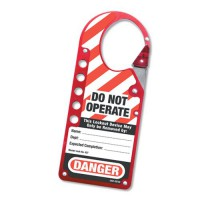 ''Do Not Operate'' Lockout Hasp